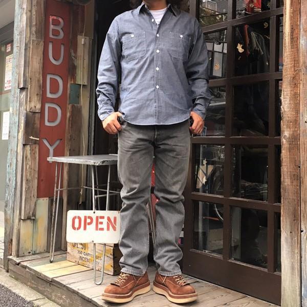 シャンブレーシャツ ネイビー BUDDY オリジナル SPRINGFORD アメカジ メンズ 長袖 ワークシャツ NAVY CHAMBRAY SHIRTS buddy-us-clothing 07