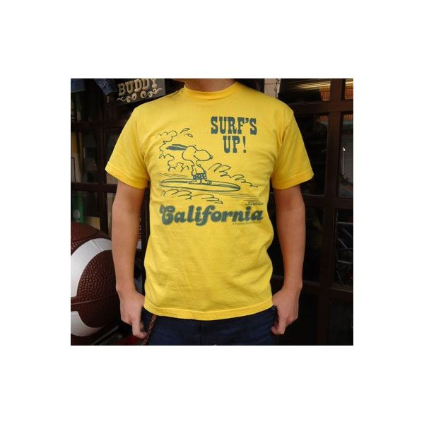 BUDDY 別注 PEANUTS スヌーピーTシャツ(CALIFORNIA)/SNOOPY buddy-us-clothing