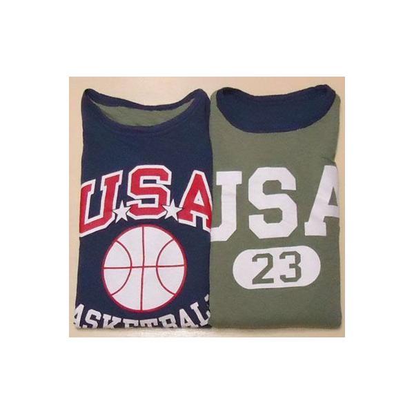 BUDDY別注 Champion リバーシブルTシャツ (USA BASKETBALL)|buddy-us-clothing