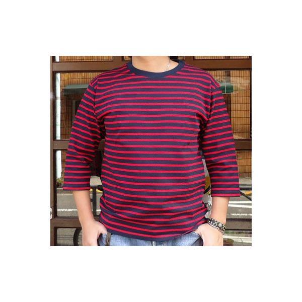 ★SPRINGFORD★BUDDY オリジナル 3/4スリーブ ボーダーTシャツ アメカジ 七分袖|buddy-us-clothing