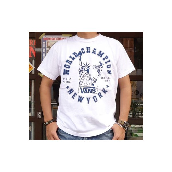 バンズ VANS BUDDY 別注 プリントTシャツ #6 NEW YORK BMX ERA ニューヨーク ヴァンズ OLD BMX SCREAMIN'WHEELS|buddy-us-clothing