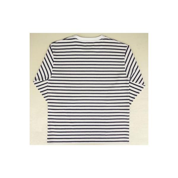 バディ SPRINGFORD BUDDY オリジナル 3/4スリーブ ボーダーTシャツ(オフホワイト×ネイビー)アメカジ 七分袖|buddy-us-clothing|04
