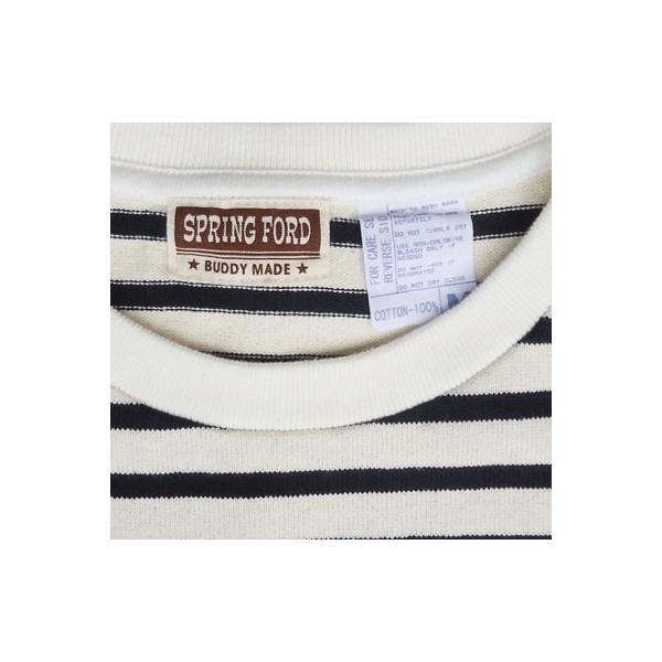 バディ SPRINGFORD BUDDY オリジナル 3/4スリーブ ボーダーTシャツ(オフホワイト×ネイビー)アメカジ 七分袖|buddy-us-clothing|05