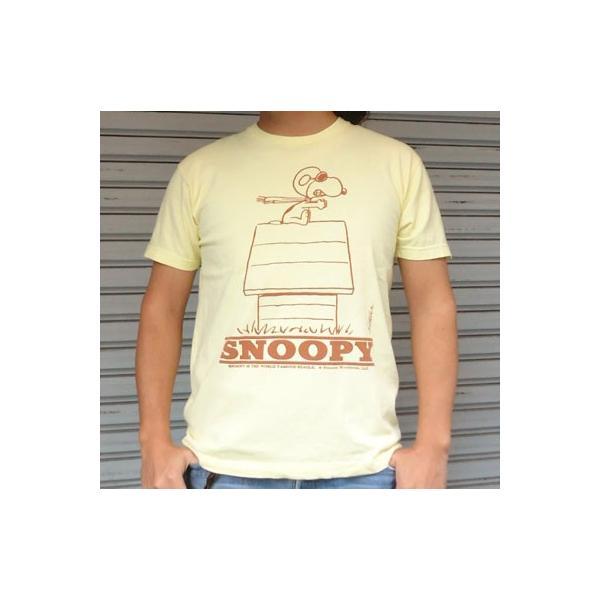 BUDDY 別注 PEANUTS スヌーピーTシャツ(RED BARON)/SNOOPY/ピーナッツ Schulz|buddy-us-clothing