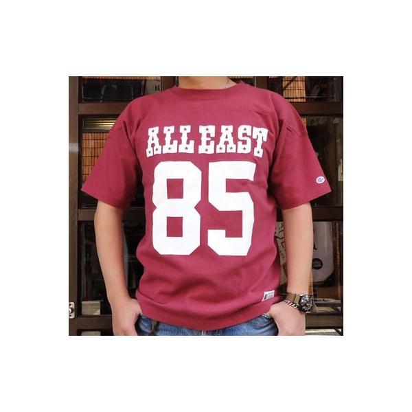 チャンピオン Champion BUDDY 別注 ショートスリーブフットボールシャツ ALL EAST #85 アメカジ S/S|buddy-us-clothing