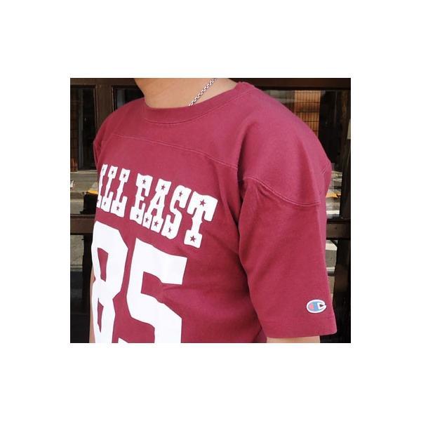 チャンピオン Champion BUDDY 別注 ショートスリーブフットボールシャツ ALL EAST #85 アメカジ S/S|buddy-us-clothing|03