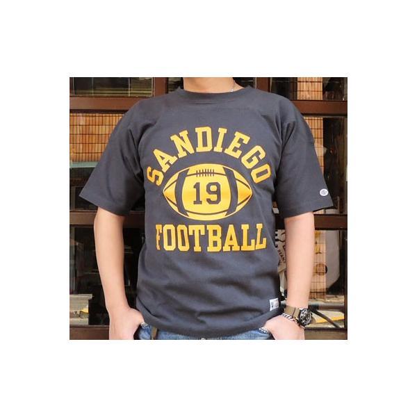 別注 チャンピオン Champion BUDDY別注 ショートスリーブ フットボールシャツ SANDIEGO #19 アメカジ S/S ランタグ 半袖|buddy-us-clothing