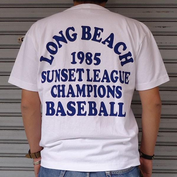 チャンピオン Champion USA製 BUDDY 別注 T1011 MADE IN U.S.A.プリントTシャツ(LONG BEACH INDIANS BASEBALL 1985)アメリカ製 ティーテンイレブン ベースボール|buddy-us-clothing|02