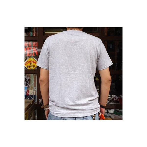 別注 フルーツオブザルーム FRUIT OF THE LOOM BUDDY別注 2TONE ポケット付きTシャツ ヘザーグレー×ケリーグリーン ポケT アメカジ ツートーン|buddy-us-clothing|02