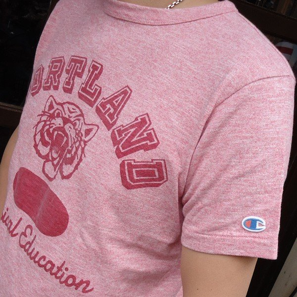 チャンピオン Champion ロチェスター ヘザーTシャツ(PORTLAND) BUDDY 別注 17SS Rochester (C3-K317) 霜降り アメカジ ヘザーレッド ポートランド|buddy-us-clothing|02