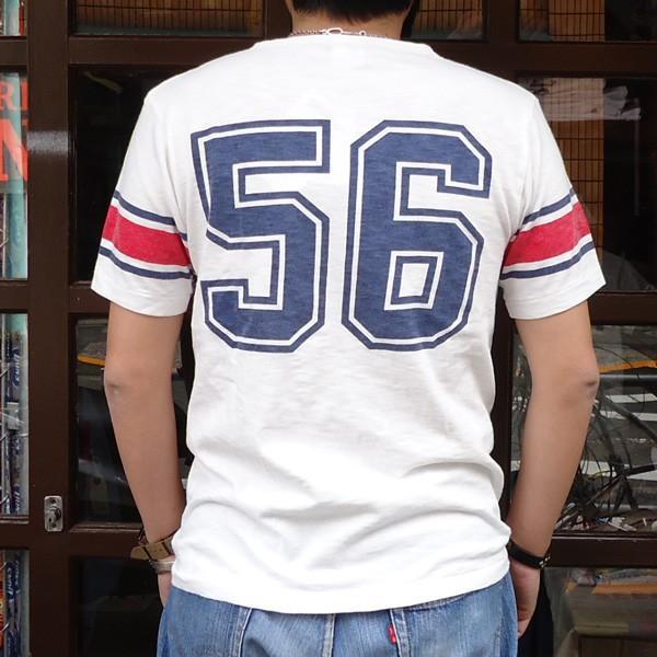 別注 チャンピオン Champion ロチェスター フットボール ラインTシャツ NYC 56 BUDDY別注 17SS Rochester (C3-K311) アメカジ オフホワイト ニューヨーク|buddy-us-clothing|02