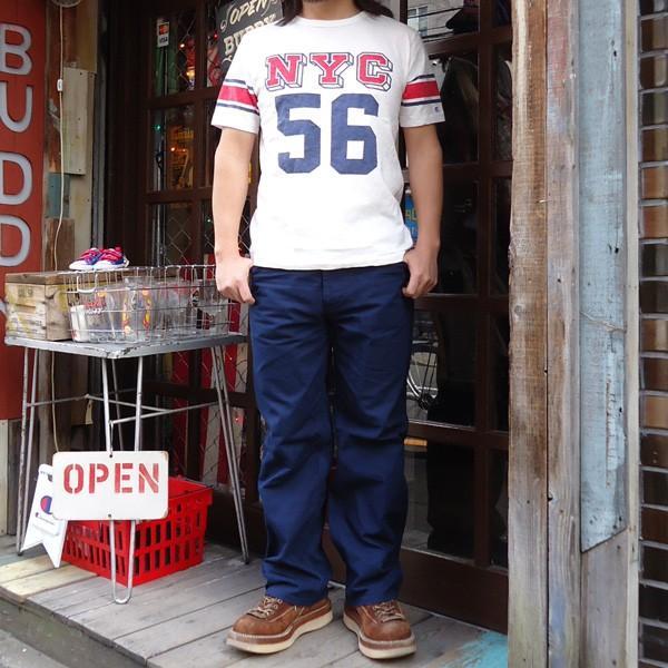 別注 チャンピオン Champion ロチェスター フットボール ラインTシャツ NYC 56 BUDDY別注 17SS Rochester (C3-K311) アメカジ オフホワイト ニューヨーク|buddy-us-clothing|05