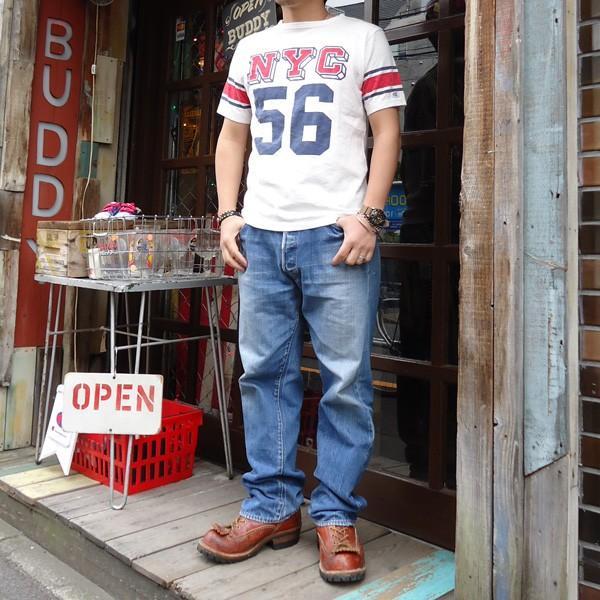 別注 チャンピオン Champion ロチェスター フットボール ラインTシャツ NYC 56 BUDDY別注 17SS Rochester (C3-K311) アメカジ オフホワイト ニューヨーク|buddy-us-clothing|06