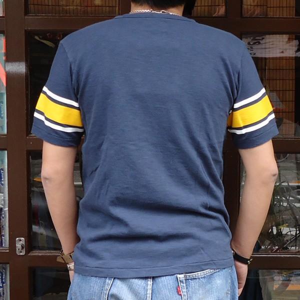 別注 チャンピオン Champion ロチェスター フットボール ラインTシャツ★AMERICAN★CONFERENCE BUDDY別注 17SS Rochester (C3-K311) アメカジ ネイビー|buddy-us-clothing|02