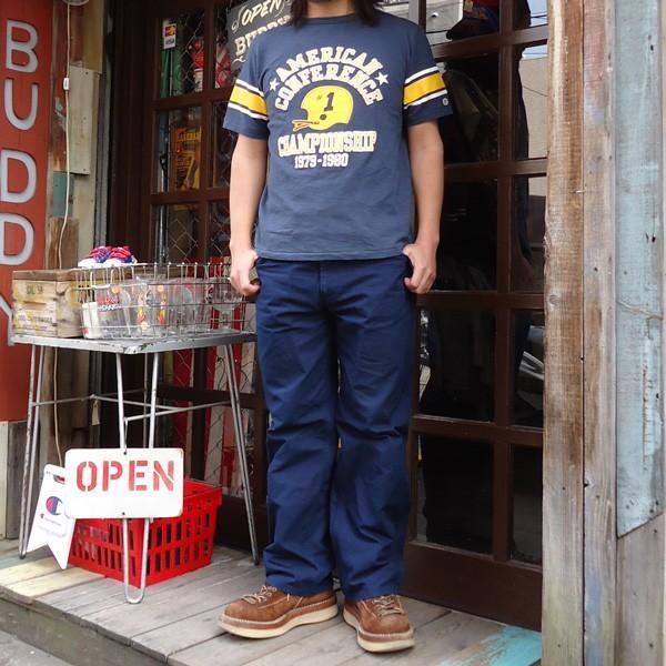 別注 チャンピオン Champion ロチェスター フットボール ラインTシャツ★AMERICAN★CONFERENCE BUDDY別注 17SS Rochester (C3-K311) アメカジ ネイビー|buddy-us-clothing|05