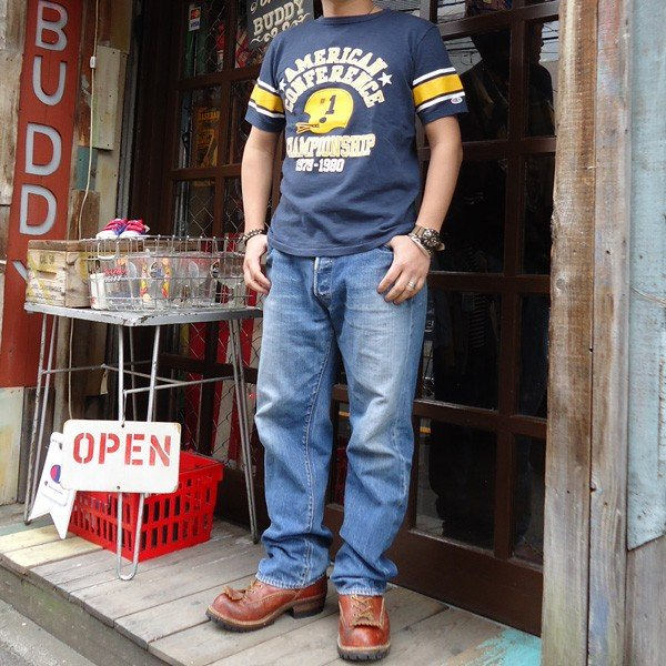 別注 チャンピオン Champion ロチェスター フットボール ラインTシャツ★AMERICAN★CONFERENCE BUDDY別注 17SS Rochester (C3-K311) アメカジ ネイビー|buddy-us-clothing|06