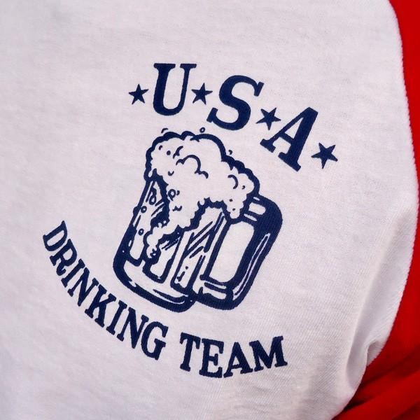 ラッセルアスレチック RUSSELL ATHLETIC ベースボールTシャツ BUDDY別注 (U.S.A.DRINKING TEAM) アメカジ メンズ BaseBall 七分袖|buddy-us-clothing|03