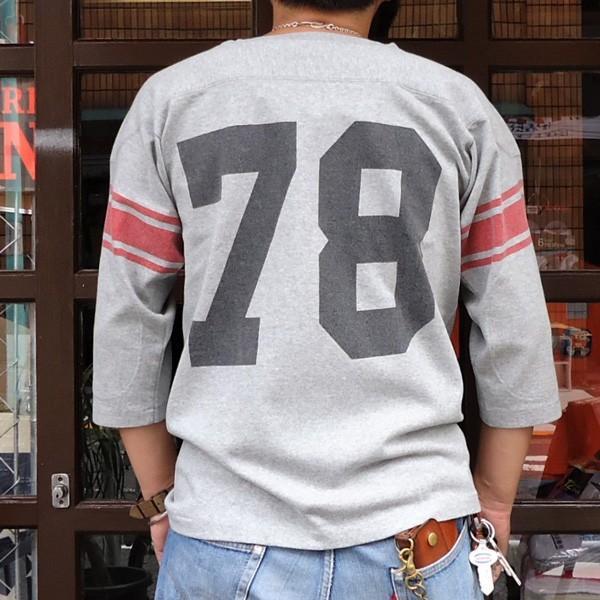 別注 チャンピオン フットボールシャツ Champion BUDDY別注 バディ 3/4スリーブ 七分袖 U of G アメカジ カレッジ UNIVERSITY OF GEORGIA C3-L405|buddy-us-clothing|02