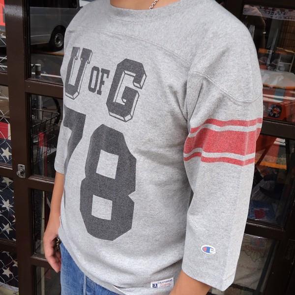 別注 チャンピオン フットボールシャツ Champion BUDDY別注 バディ 3/4スリーブ 七分袖 U of G アメカジ カレッジ UNIVERSITY OF GEORGIA C3-L405|buddy-us-clothing|03