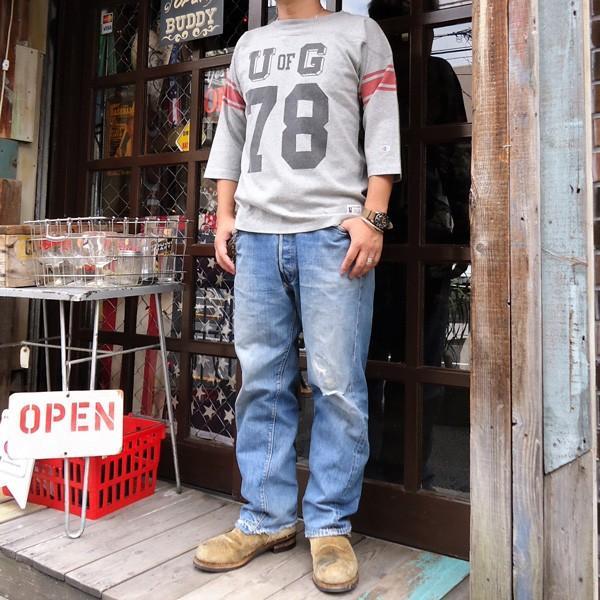 別注 チャンピオン フットボールシャツ Champion BUDDY別注 バディ 3/4スリーブ 七分袖 U of G アメカジ カレッジ UNIVERSITY OF GEORGIA C3-L405|buddy-us-clothing|06