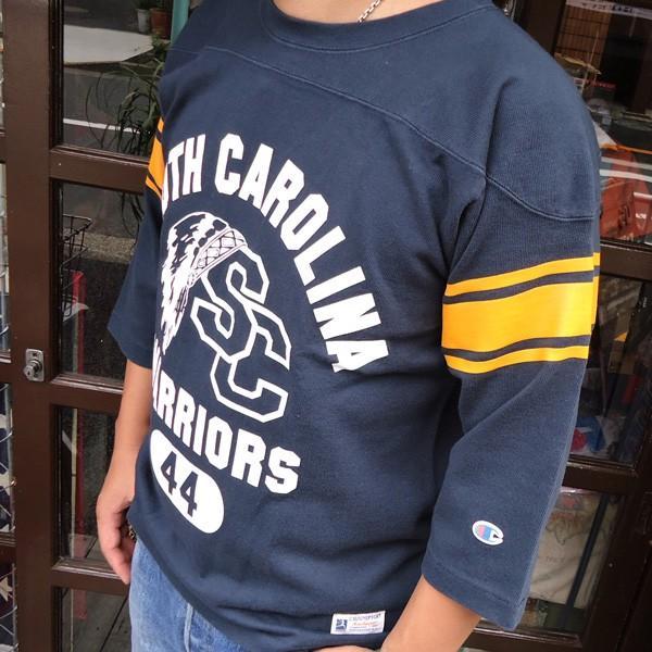 別注 チャンピオン フットボールシャツ Champion BUDDY別注 バディ 3/4スリーブ 七分袖 SOUTH CAROLINA WARRIORS アメカジ サウスキャロライナ ウォリアーズ|buddy-us-clothing|03