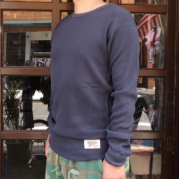 サーマルシャツ ヘザーグレー ナチュラル チャコールグレー BUDDY オリジナル ロングスリーブ 長袖 無地 サーマル Thermal ロンT インナー 重ね着 アメカジ|buddy-us-clothing|04