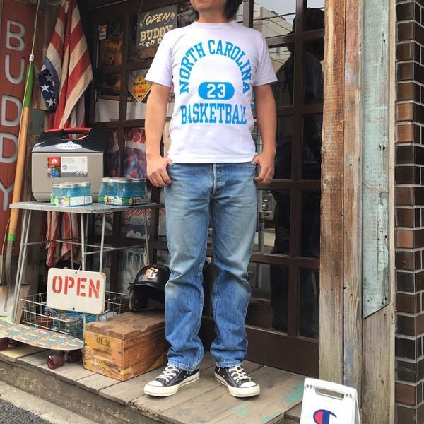 別注 チャンピオン リバースウィーブ Tシャツ 18SS BUDDY別注 Champion REVERSE WEAVE Tシャツ C3-X301  白 ホワイト 半袖 NORTH CAROLINA BASKET BALL 23|buddy-us-clothing|07