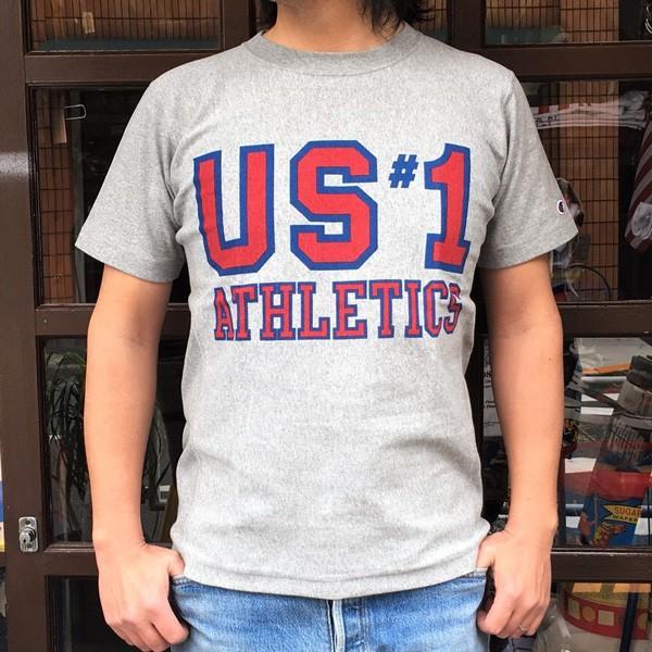 別注 チャンピオン リバースウィーブ Tシャツ 18SS BUDDY別注 Champion REVERSE WEAVE Tシャツ C3-X301 オックスフォードグレー 半袖 US #1 ATHLETICS|buddy-us-clothing