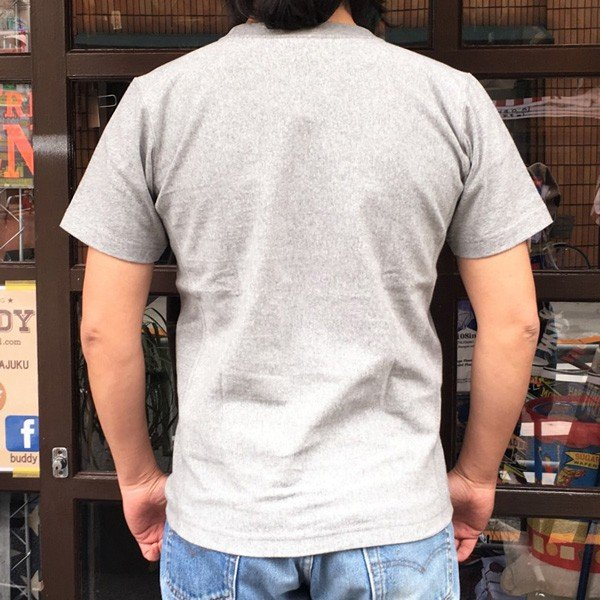 別注 チャンピオン リバースウィーブ Tシャツ 18SS BUDDY別注 Champion REVERSE WEAVE Tシャツ C3-X301 オックスフォードグレー 半袖 US #1 ATHLETICS|buddy-us-clothing|02