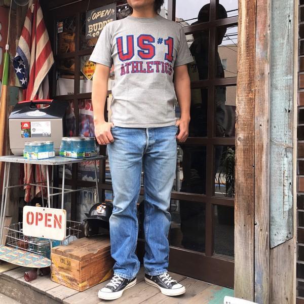 別注 チャンピオン リバースウィーブ Tシャツ 18SS BUDDY別注 Champion REVERSE WEAVE Tシャツ C3-X301 オックスフォードグレー 半袖 US #1 ATHLETICS|buddy-us-clothing|07