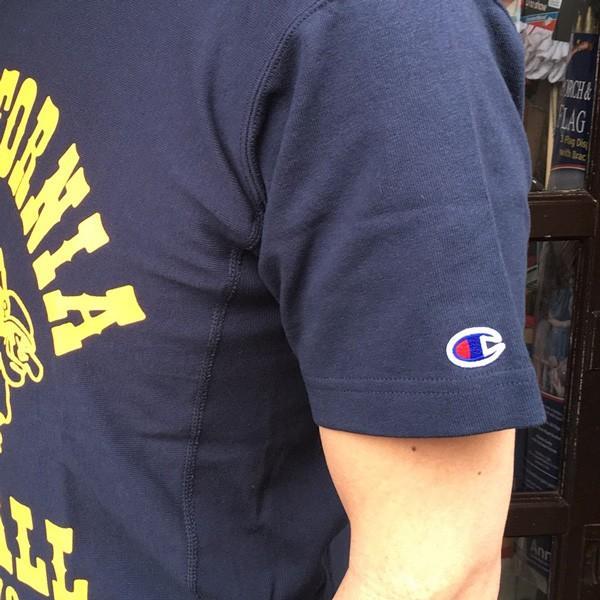 別注 チャンピオン リバースウィーブ Tシャツ 18SS BUDDY別注 Champion REVERSE WEAVE Tシャツ C3-X301 ネイビー NAVY 半袖 1976 CALIFORNIA FOOTBALL|buddy-us-clothing|03
