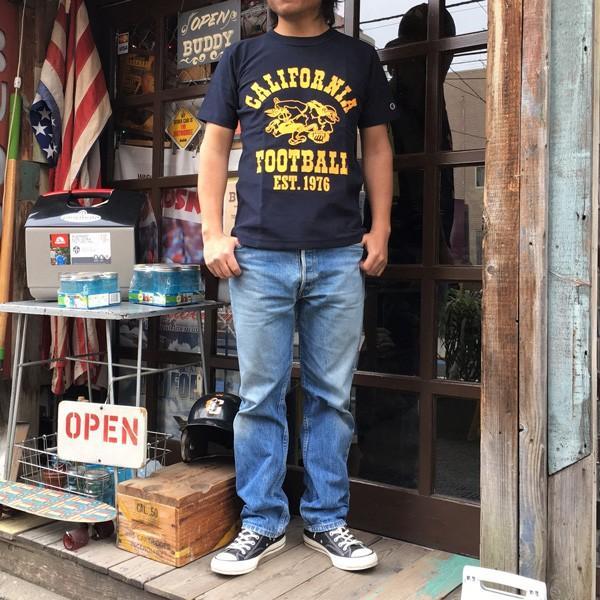 別注 チャンピオン リバースウィーブ Tシャツ 18SS BUDDY別注 Champion REVERSE WEAVE Tシャツ C3-X301 ネイビー NAVY 半袖 1976 CALIFORNIA FOOTBALL|buddy-us-clothing|07