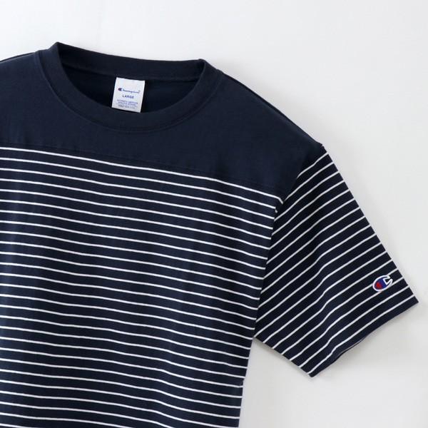 Champion 2018新作 ベーシックチャンピオン ボーダーTシャツ ネイビー 18SS C3-M351 NAVY ヘインズ アメカジ|buddy-us-clothing|08