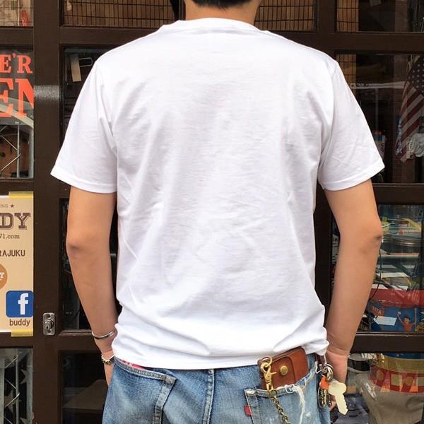 フルーツオブザルーム FRUIT OF THE LOOM×BUDDY CALIFORNIA アメカジ カリフォルニア 半袖Tシャツ 白 バディ 別注 オリジナル|buddy-us-clothing|03