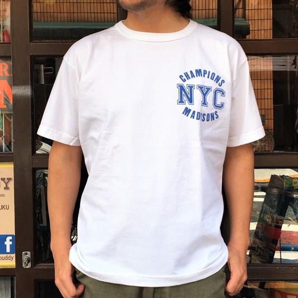 別注 チャンピオン Champion アメリカ製 白 Tシャツ T1011 MADE IN U.S.A. Tシャツ BUDDY別注 NYC MADISONS ティーテンイレブン ホワイト WHITE アメカジ|buddy-us-clothing|02