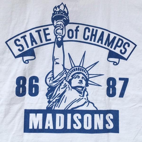 別注 チャンピオン Champion アメリカ製 白 Tシャツ T1011 MADE IN U.S.A. Tシャツ BUDDY別注 NYC MADISONS ティーテンイレブン ホワイト WHITE アメカジ|buddy-us-clothing|05