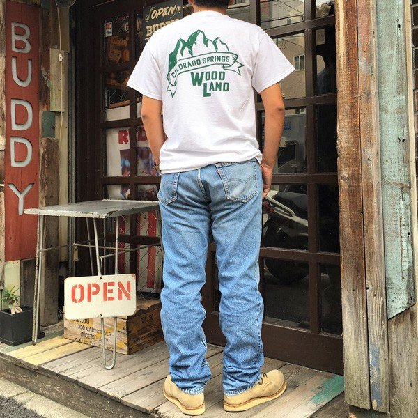 コロラド スプリングス BUDDYオリジナル WOODLAND COLORADO SPRINGSTシャツ ホワイト GILDAN CAMP USA アメリカ国立公園 アウトドア キャンプ|buddy-us-clothing|06