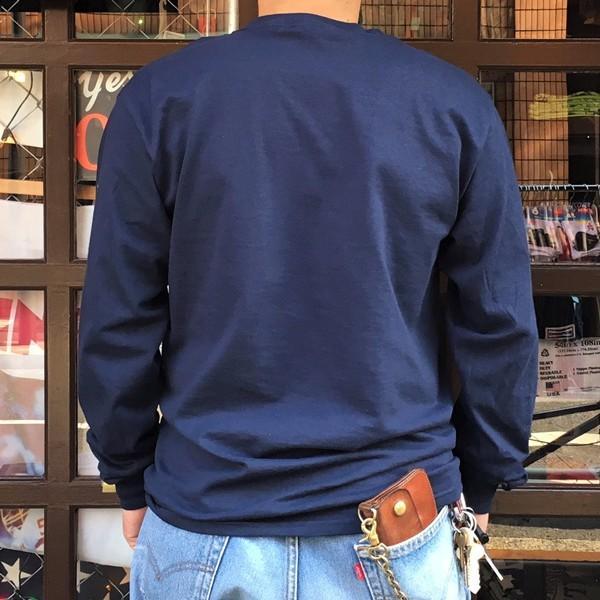 ロンT ロングスリーブTシャツ BUDDYオリジナル CALIFORNIA EAGLES GILDAN カリフォルニア イーグルス USA ネイビー アメカジ 長袖 ロングTシャツ|buddy-us-clothing|02