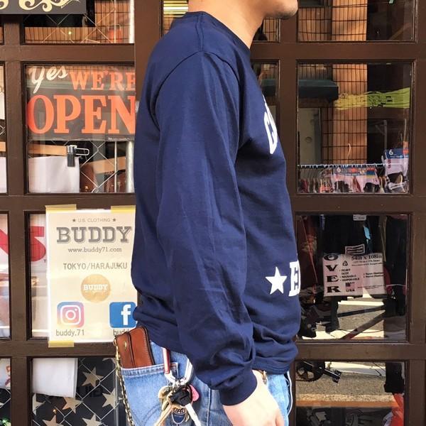 ロンT ロングスリーブTシャツ BUDDYオリジナル CALIFORNIA EAGLES GILDAN カリフォルニア イーグルス USA ネイビー アメカジ 長袖 ロングTシャツ|buddy-us-clothing|04