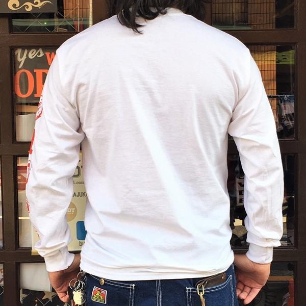 ロンT ロングスリーブTシャツ BUDDY オリジナル SCOTTSDALE BULLDOGS GILDAN ブルドッグス USA ホワイト アメカジ 長袖 ロングTシャツ|buddy-us-clothing|02