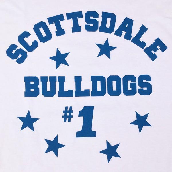 ロンT ロングスリーブTシャツ BUDDY オリジナル SCOTTSDALE BULLDOGS GILDAN ブルドッグス USA ホワイト アメカジ 長袖 ロングTシャツ|buddy-us-clothing|05