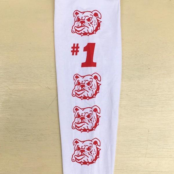 ロンT ロングスリーブTシャツ BUDDY オリジナル SCOTTSDALE BULLDOGS GILDAN ブルドッグス USA ホワイト アメカジ 長袖 ロングTシャツ|buddy-us-clothing|09