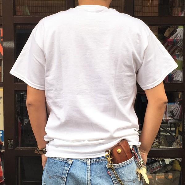 アメカジ BUDDY オリジナル ワンポイント ホワイト Tシャツ STARS & STRIPES GILDAN USA アメリカ 星条旗柄 半袖 buddy-us-clothing 03