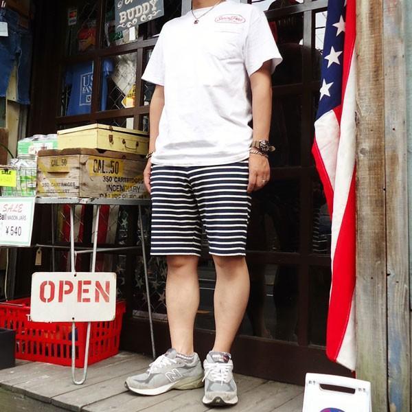 ショートパンツ ボーダー バディ BUDDY オリジナル SPRINGFORD ボーダーショートパンツ イージーパンツ 短パン アメカジ|buddy-us-clothing|05