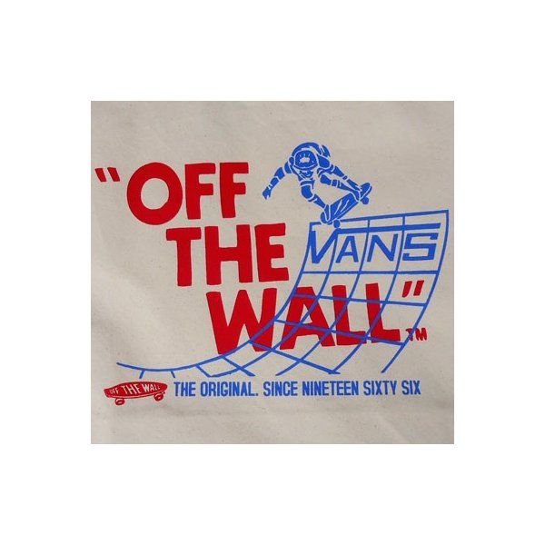 BUDDY 別注 VANS キャンバストートバック ナチュラル(オフホワイト)/バンズ/SCREAMIN'WHEELS/スケボー/OLD/VANS OFF THE WALL/SKATE BOARD/スケートボード|buddy-us-clothing|04