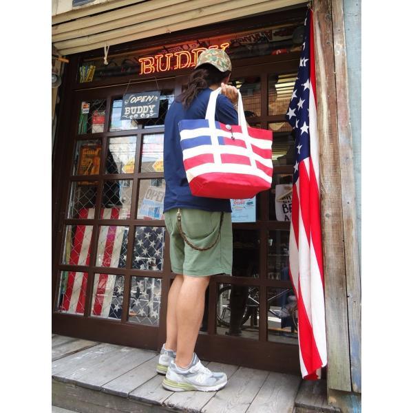 バトラーバーナーセイルズ アメリカンフラッグトートバッグ Butler Verner Sails アメカジ 星条旗|buddy-us-clothing|05