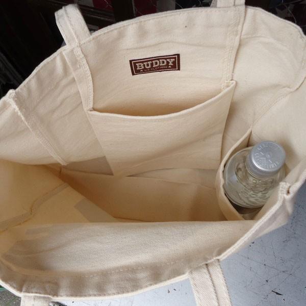 BUDDY オリジナル キャンバストートバッグ  B/ アメカジ エコバッグ|buddy-us-clothing|04