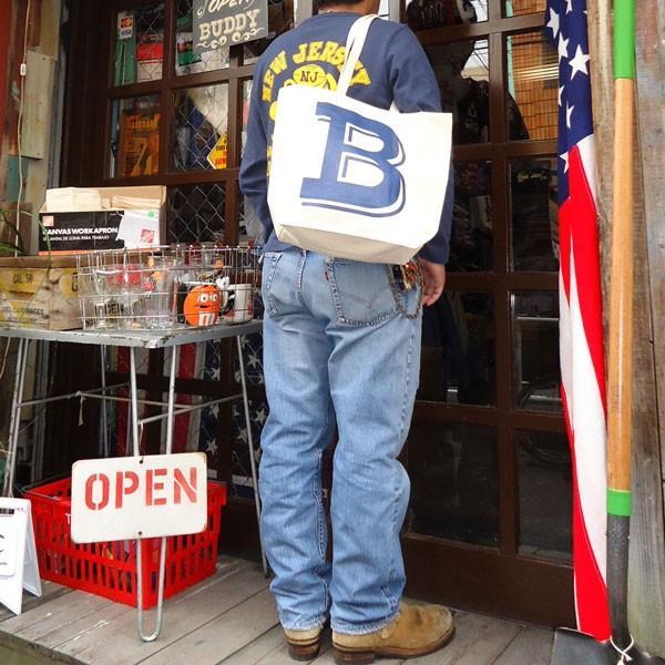 BUDDY オリジナル キャンバストートバッグ  B/ アメカジ エコバッグ|buddy-us-clothing|05