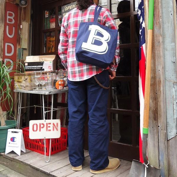 BUDDY オリジナル キャンバストートバッグ  B/ アメカジ エコバッグ|buddy-us-clothing|06