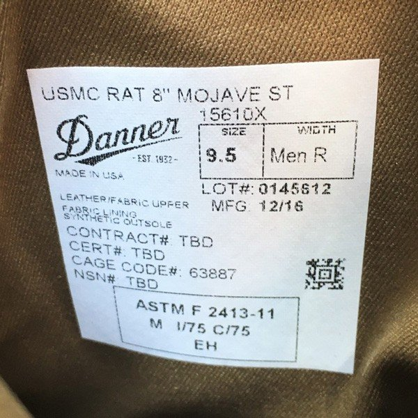 ダナー Danner アメリカ海兵隊 ミリタリーブーツ USMC Rat 8